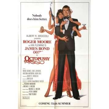 OCTOPUSSY Affiche de film Prev. - 69x102 cm. - 1983 - Roger Moore, James Bond