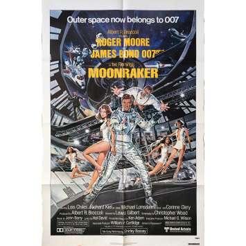 MOONRAKER Affiche de film US - 69x102 cm. - 1979 - Roger Moore, James Bond
