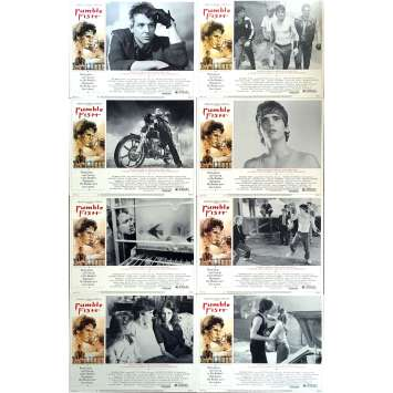RUMBLE FISH Original Lobby Cards x8 - 11x14 in. - 1983 - Francis Ford Coppola, Matt Dillon