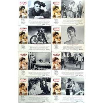 RUSTY JAMES Photos de film x8 - 28x36 cm. - 1983 - Matt Dillon, Francis Ford Coppola