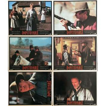 IMPITOYABLE Photos de film x6 - 21x30 cm. - 1992 - Gene Hackman, Clint Eastwood