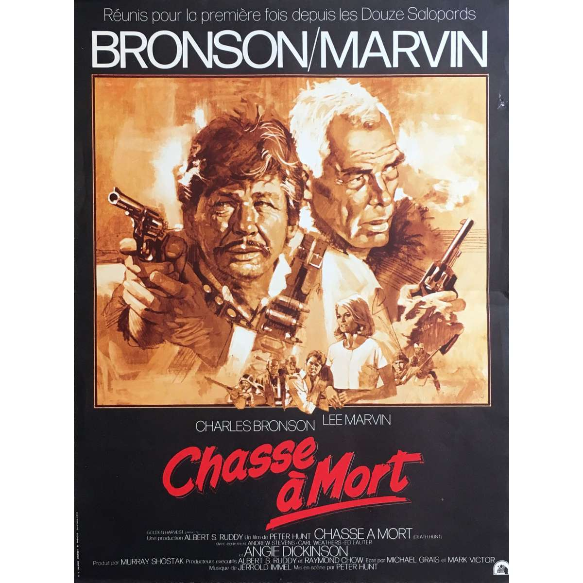 Death hunt Charles Bronson Lee Marvin movie poster print