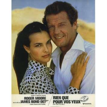 RIEN QUE POUR VOS YEUX Photo de film N01 - 21x30 cm. - 1981 - Roger Moore, James Bond