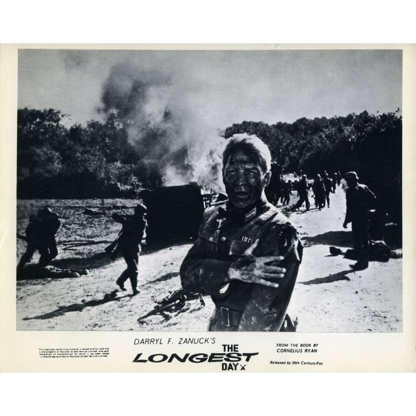 THE LONGEST DAY Original Lobby Card N02 - 8x10 in  - 1962 - Ken Annakin,  John Wayne, Dean Martin