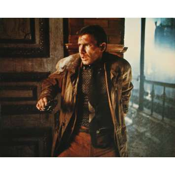 BLADE RUNNER Original Lobby Card N01 - Deluxe - 27x40 in. - 1982 - Ridley Scott, Harrison Ford