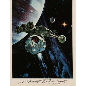 2001 A SPACE ODYSSEY Original Signed Photo N01 - 9x12 in. - 1968 - Stanley Kubrick, Keir Dullea