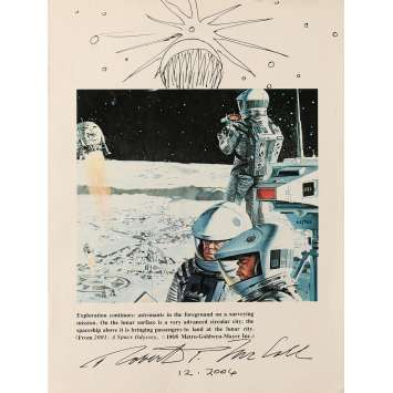 2001 L'ODYSSEE DE L'ESPACE Photo signée N02 - 21x30 cm. - 1968 - Keir Dullea, Stanley Kubrick
