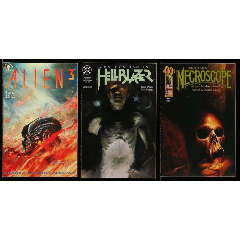 ALIEN 3 Original Comic Book Lot - 8x10 in. - 1992 - David Fincher, Sigourney Weaver