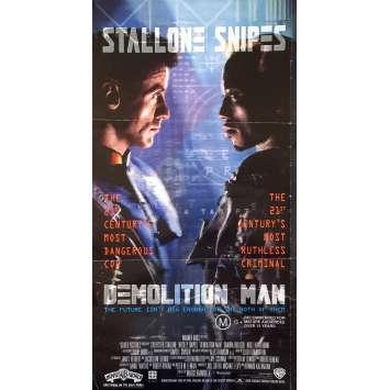 DEMOLITION MAN Affiche de film - 33x78 cm. - 1993 - Sylvester Stallone, Marco Brambilla