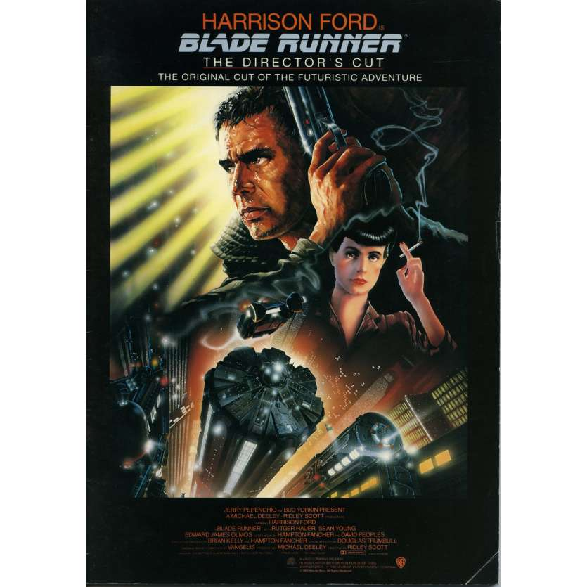 BLADE RUNNER Programme - 21x30 cm. - R1992 - Harrison Ford, Ridley Scott