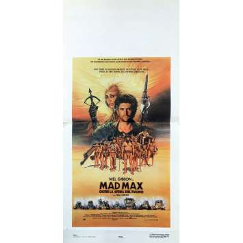 MAD MAX 3 Original Movie Poster - 13x30 in. - 1985 - George Miller, Mel Gibson, Tina Turner