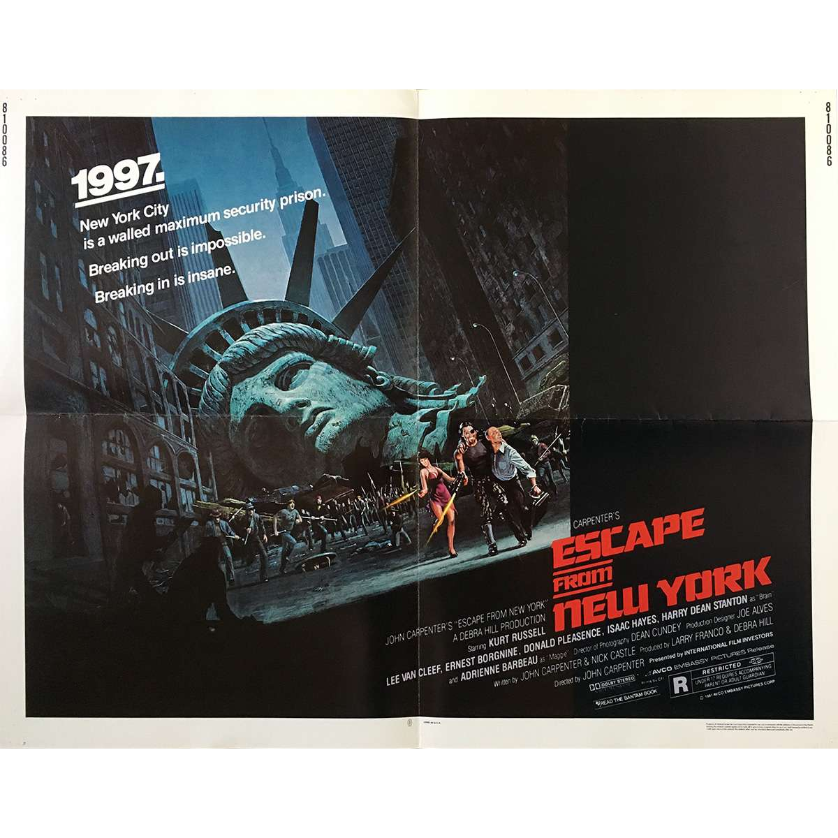 ESCAPE FROM NEW-YORK Movie Poster 21x28 In