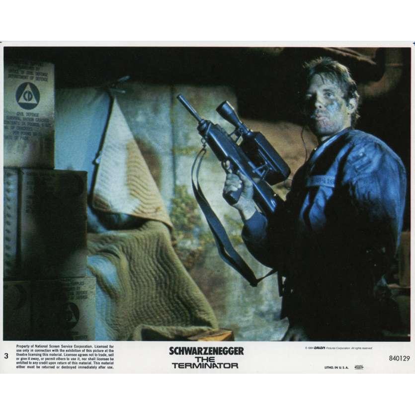 TERMINATOR Original Lobby Card N03 - 8x10 in. - 1983 - James Cameron, Arnold Schwarzenegger