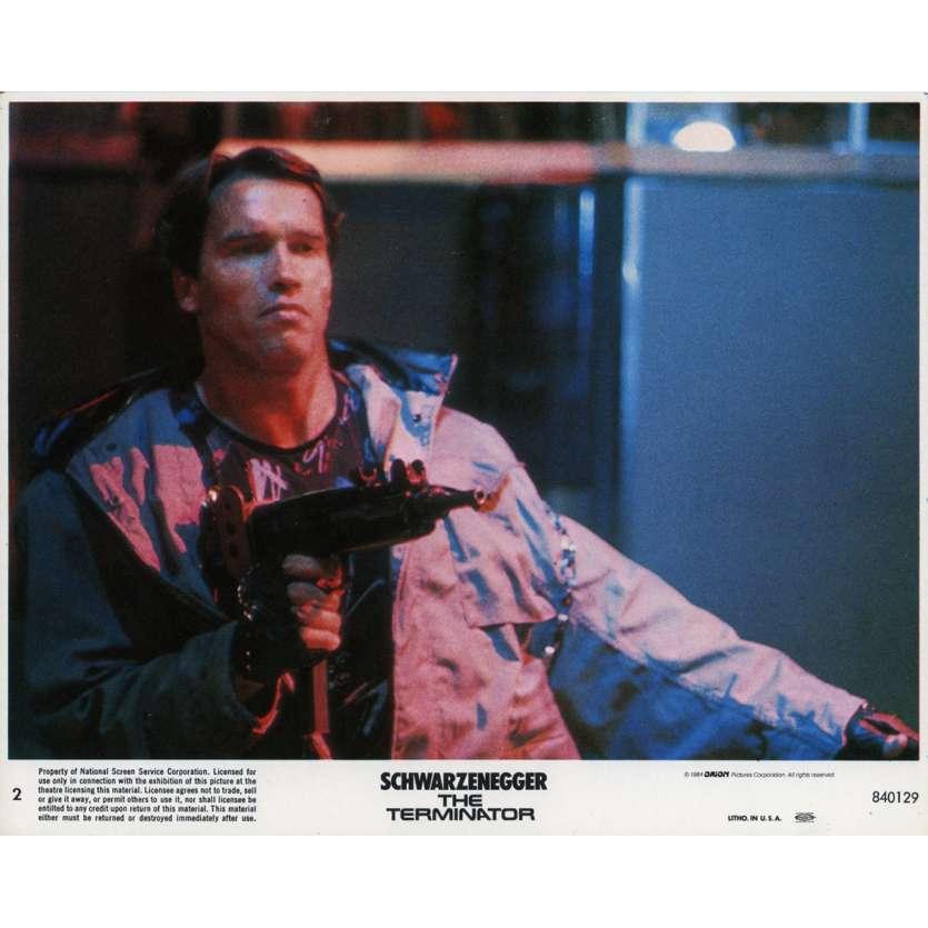 TERMINATOR Original Lobby Card N02 - 8x10 in. - 1983 - James Cameron, Arnold Schwarzenegger