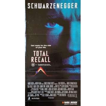 TOTAL RECALL Affiche de film - 33x78 cm. - 1990 - Arnold Schwarzenegger, Paul Verhoeven