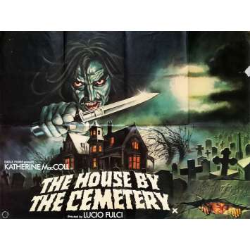 HOUSE BY THE CEMETARY Original Movie Poster - 30x40 in. - 1981 - Lucio Fulci, Catriona McColl