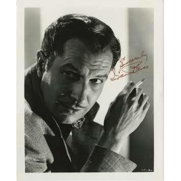 THE TINGLER Original Signed Photo - 8x10 in. - 1959 - William Castle, Vincent Price