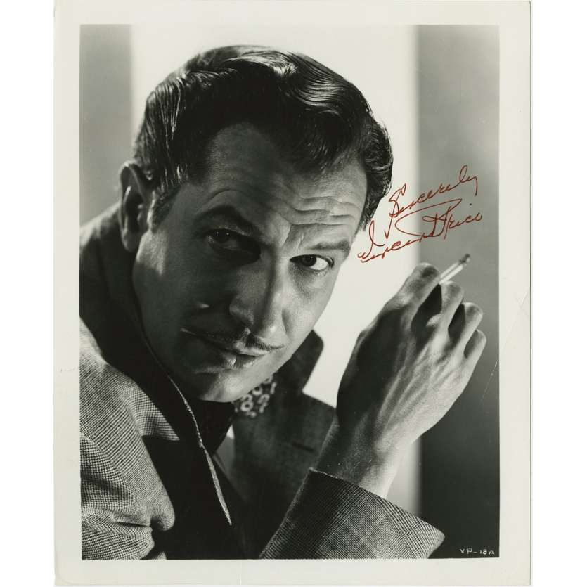 LE DESOSSEUR DE CADAVRES Photo signée - 20x25 cm. - 1959 - Vincent Price, William Castle