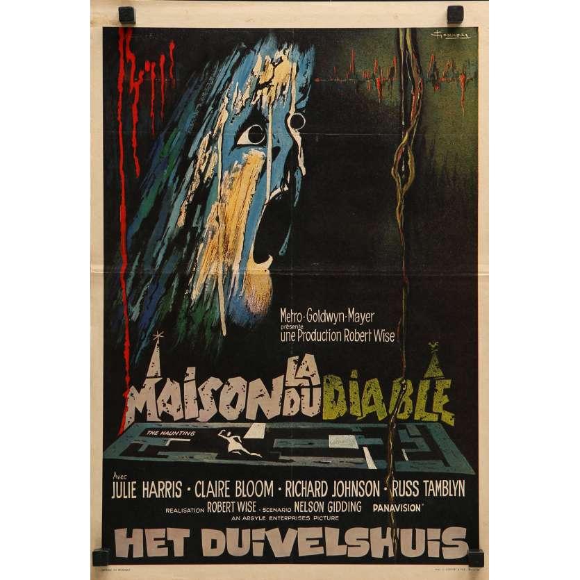 LA MAISON DU DIABLE Affiche de film - 35x55 cm. - 1963 - Julie Harris, Robert Wise