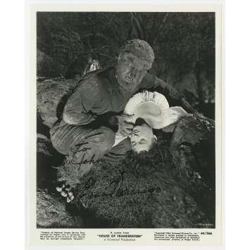 LA MAISON DE FRANKENSTEIN Photo signée - 20x25 cm. - 1944 - Boris Karloff, Erle C. Kenton