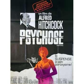 PSYCHOSE Affiche de film - 120x160 cm. - R1970 - Anthony Perkins, Alfred Hitchcock