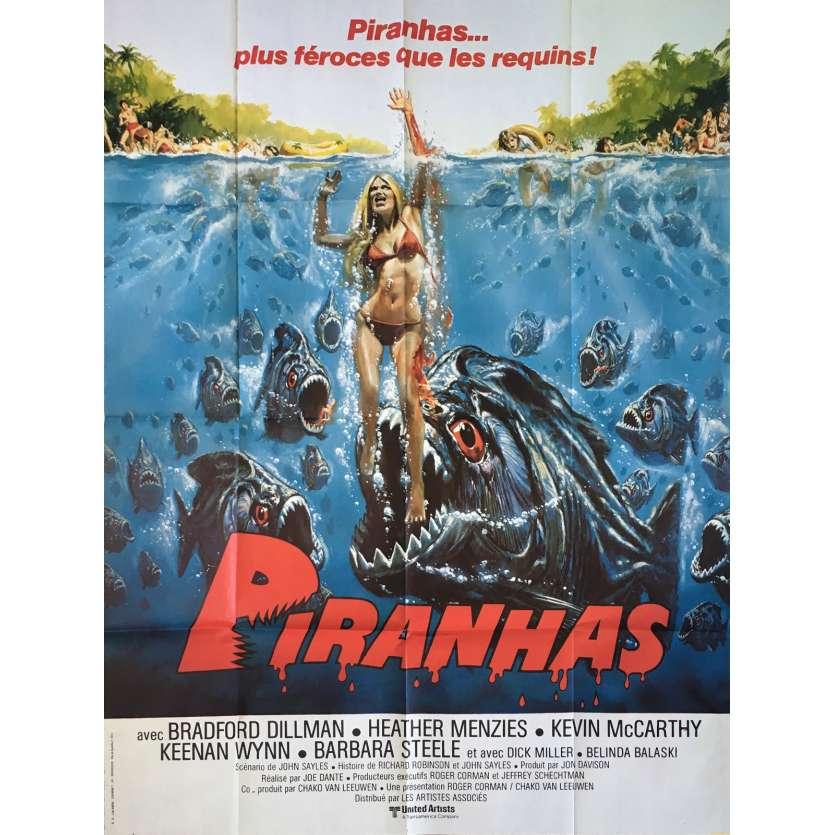 PIRANHA Original Movie Poster - 47x63 in. - 1978 - Joe Dante, Kevin McCarthy