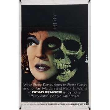 LA MORT FRAPPE TROIS FOIS Affiche de film - 69x102 cm. - 1964 - Bette Davis, Paul Henreid