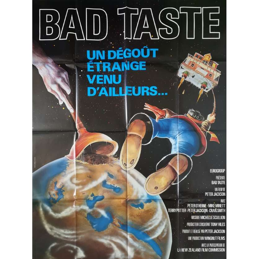 BAD TASTE Affiche de film - 120x160 cm. - 1987 - Terry Potter, Peter Jackson