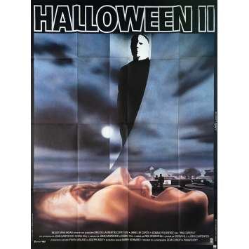 HALLOWEEN 2 II Affiche de film - 120x160 cm. - 1981 - Jamie Lee Curtis, John Carpenter