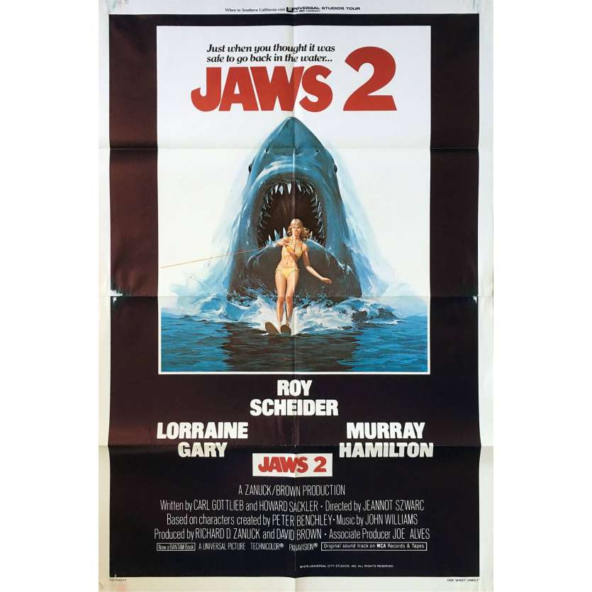 JAWS 2 1sh Movie Poster '78 Roy Sheider