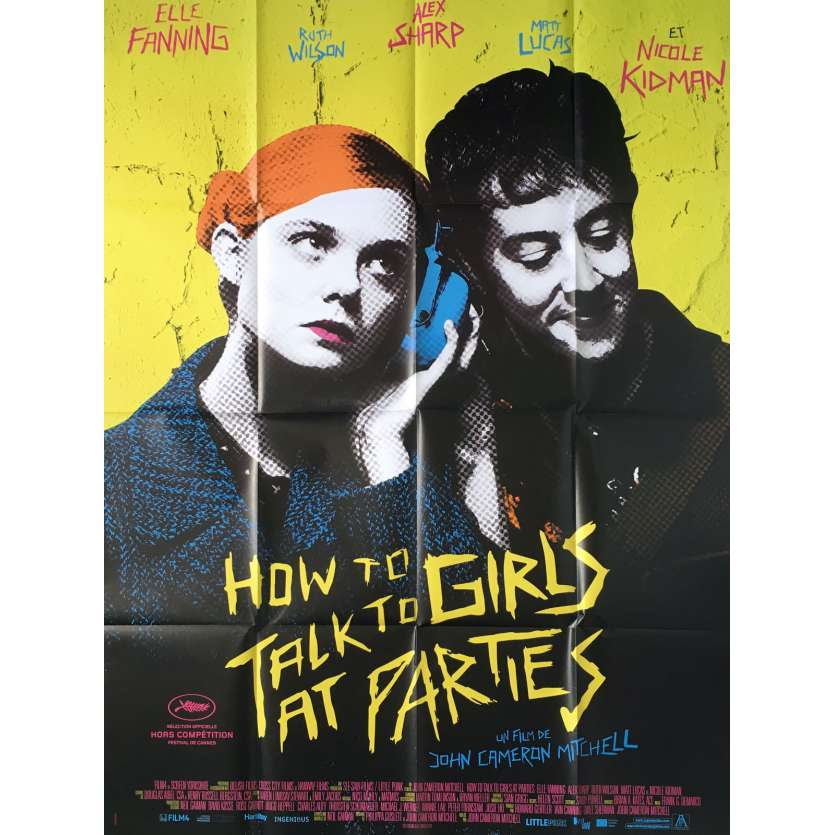 HOW TO TALK TO GIRLS Affiche de film - 120x160 cm. - 2018 - Elle Fanning, John Cameron Mitchell