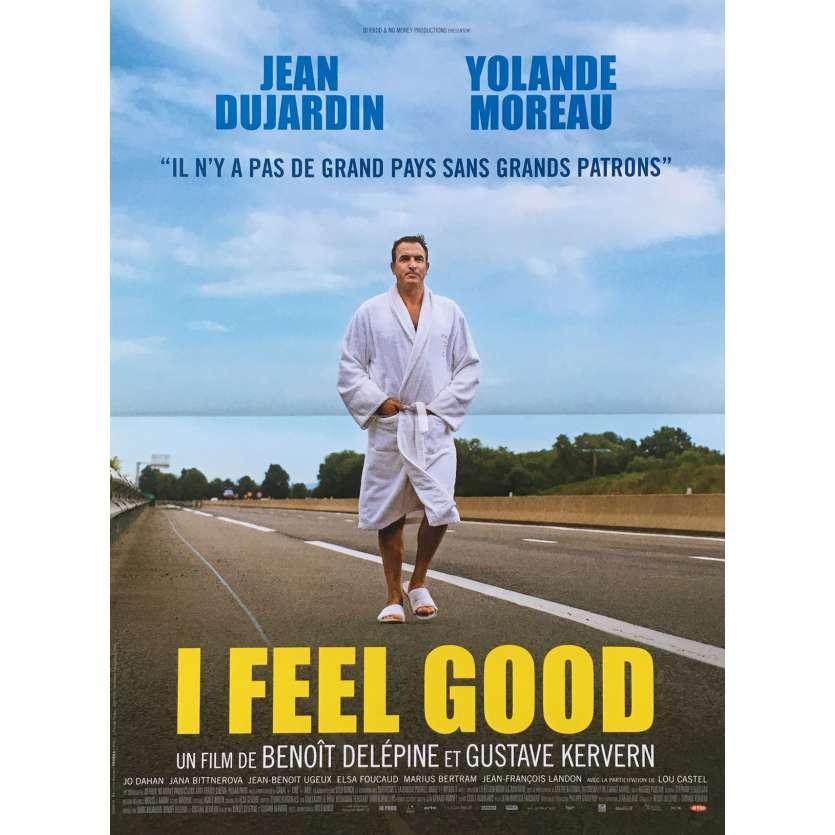 I FEEL GOOD Affiche de film - 40x60 cm. - 2018 - Jean Dujardin, Delépine & Kervern