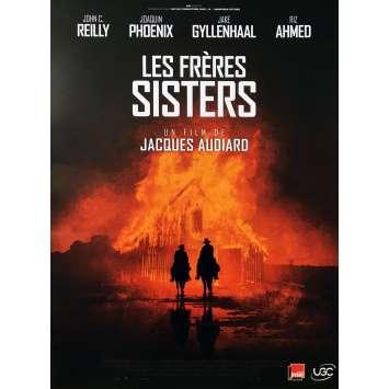 LES FRERES SISTERS Affiche de film - 40x60 cm. - 2018 - Joaquim Phoenix, Jacques Audiard