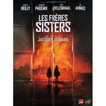 LES FRERES SISTERS Affiche de film - 120x160 cm. - 2018 - Joaquim Phoenix, Jacques Audiard