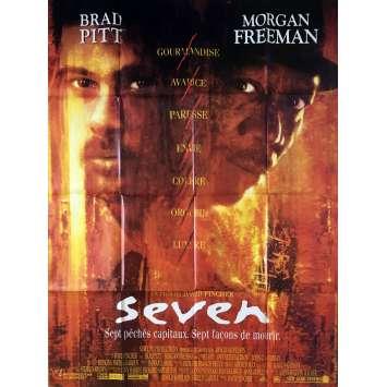 SEVEN Original Movie Poster - 47x63 in. - 1995 - David Fincher, Brad Pitt