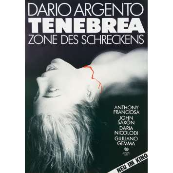 TENEBRES Affiche de film - 40x60 cm. - 1982 - John Saxon, Dario Argento