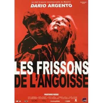 LES FRISSONS DE L'ANGOISSE Affiche de film - 40x60 cm. - R2018 - David Hemmings, Dario Argento