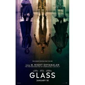 GLASS Affiche de film Prev. - 69x102 cm. - 2019 - Bruce Willis, M. Night Shyamalan