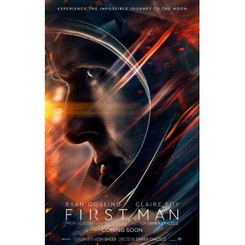 FIRST MAN : LE PREMIER HOMME SUR LA LUNE Affiche de film Prev. - 69x102 cm. - 2018 - Ryan Gosling, Damien Chazelle
