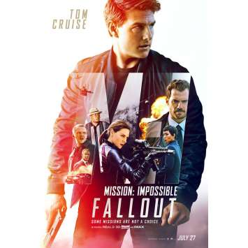 MISSION IMPOSSIBLE FALLOUT Original Movie Poster DS - 27x40 in. - 2018 - Christopher McQuarrie, Tom Cruise