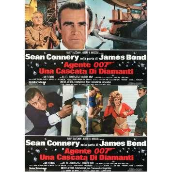 DIAMONDS ARE FOREVER Original Movie Poster - 18x26 in. - 1971 - Guy Hamilton, Sean Connery