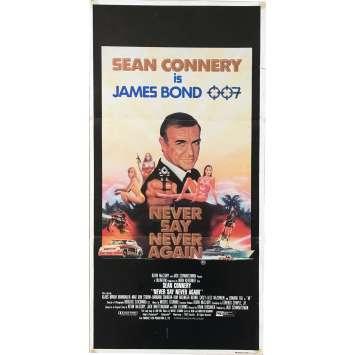JAMAIS PLUS JAMAIS Affiche de film - 33x78 cm. - 1983 - Sean Connery, Irvin Keshner