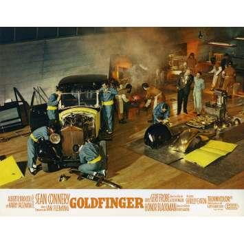 GOLDFINGER Original Lobby Card N08 - 9x12 in. - 1964 - Guy Hamilton, Sean Connery