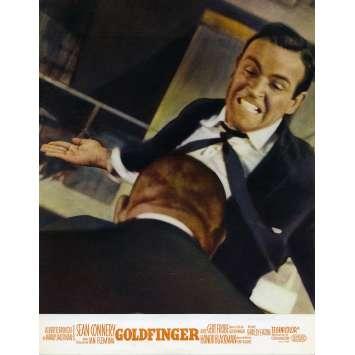 GOLDFINGER Original Lobby Card N07 - 9x12 in. - 1964 - Guy Hamilton, Sean Connery