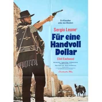 POUR UNE POIGNEE DE DOLLARS Affiche de film - 59x84 cm. - 1964 - Clint Eastwood, Sergio Leone