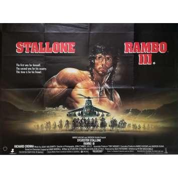 RAMBO III Affiche de film - 76x102 cm. - 1988 - Richard Crenna, Sylvester Stallone