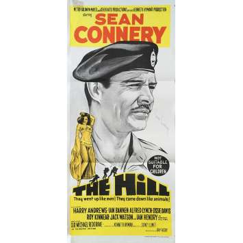 THE HILL Original Movie Poster - 13x30 in. - 1965 - Sidney Lumet, Sean Connery