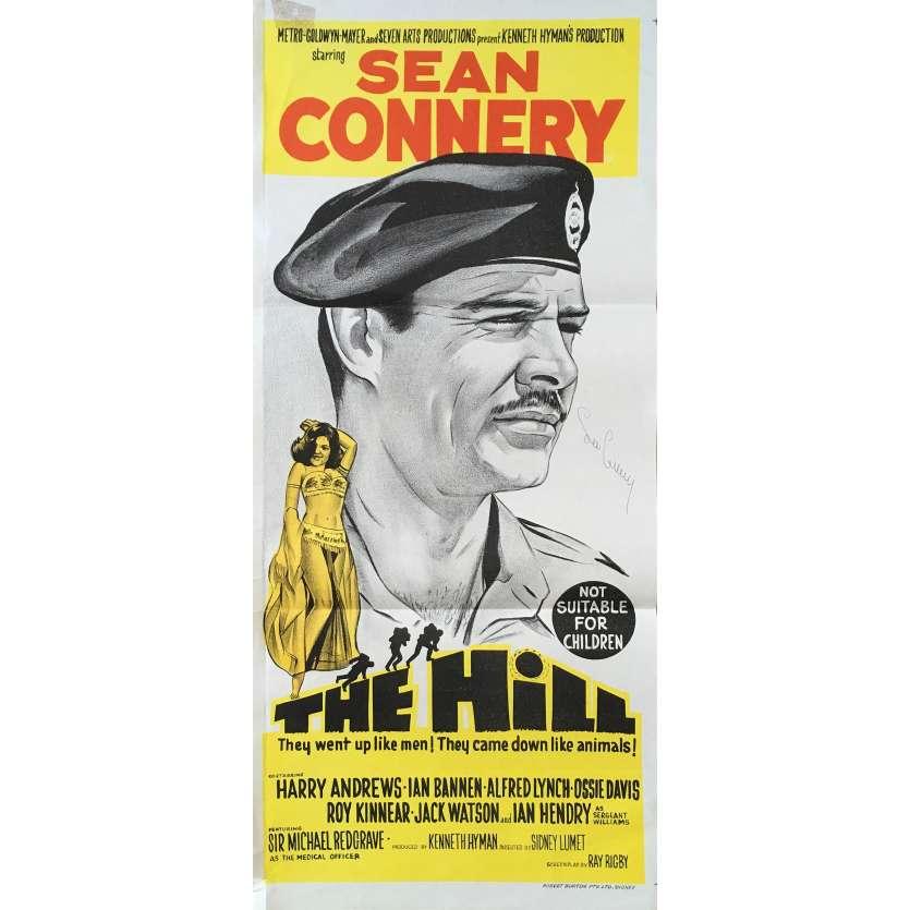 LA COLLINE DES HOMMES PERDUS Affiche de film - 33x78 cm. - 1965 - Sean Connery, Sidney Lumet