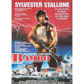 RAMBO - FIRST BLOOD Original Movie Poster - 23x33 in. - 1982 - Ted Kotcheff, Sylvester Stallone