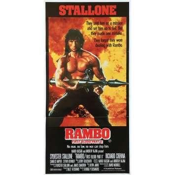 RAMBO II Affiche de film - 33x78 cm. - 1985 - Sylvester Stallone, George P. Cosmatos